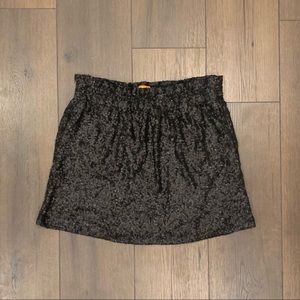 Joe Fresh Black Sequin Skirt